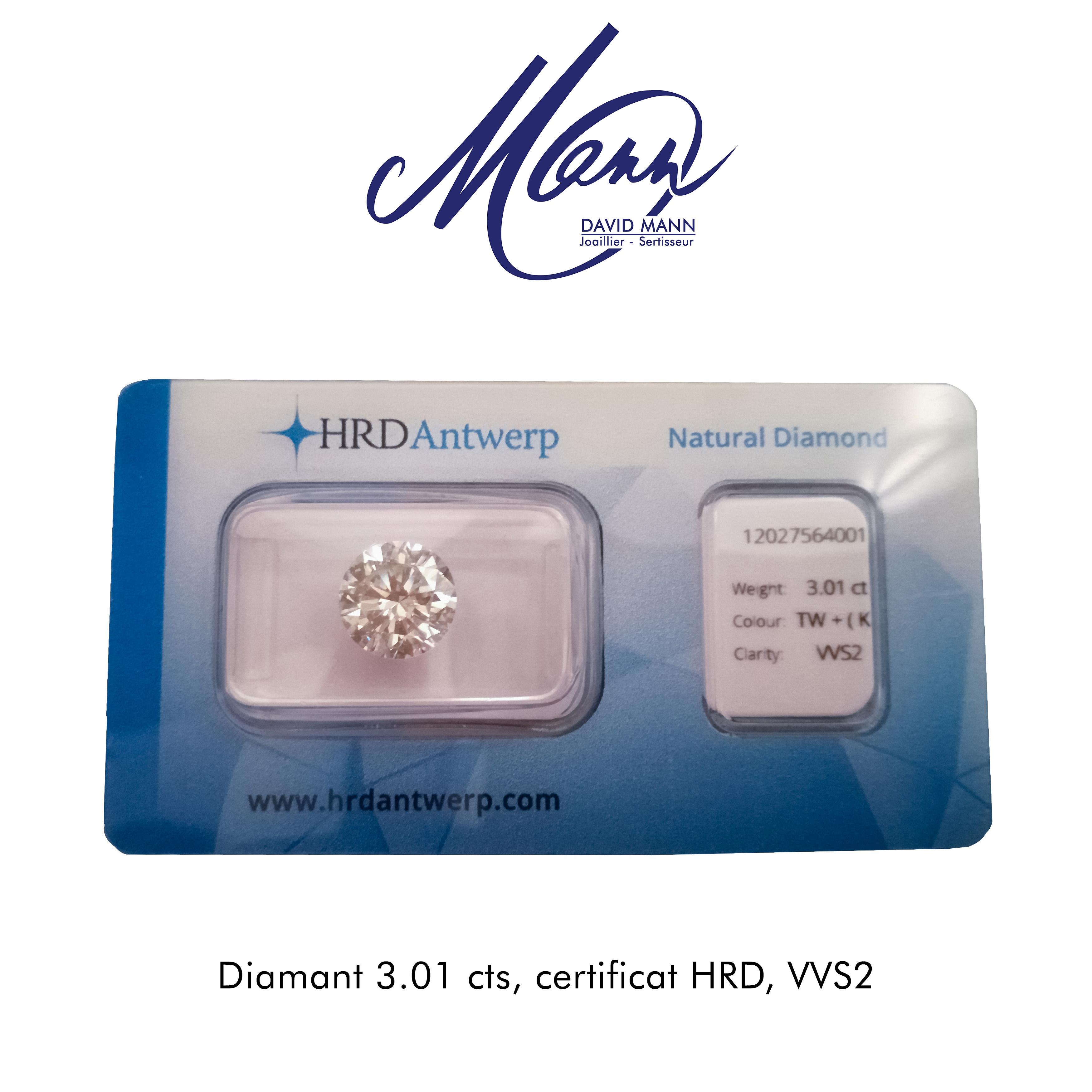 diamant 3 carats certificat hrd