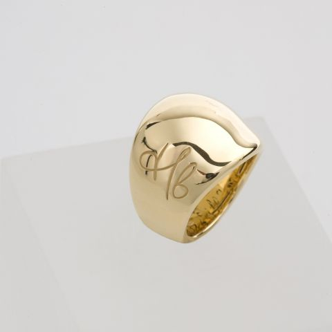 bague signature hulchi belluni or jaune