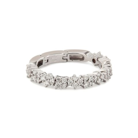 Bague Brusi Fringe diamants bancs et or blanc
