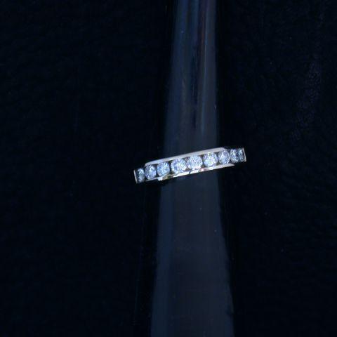 bague création david mann anneau or blanc diamants corps de bague
