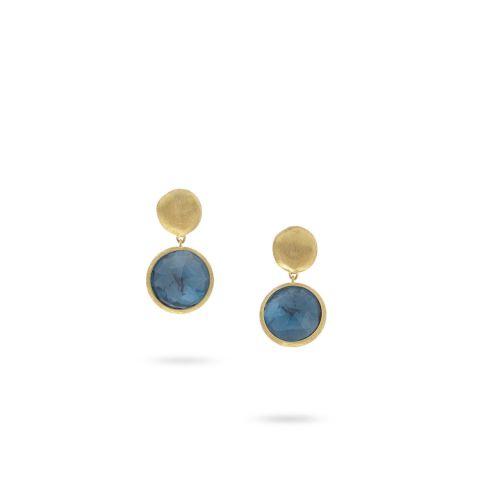 Boucles d'oreilles noces de topaze - 44 ans de mariage (topazes bleu london)