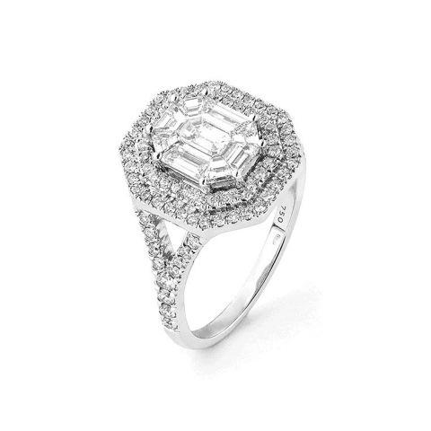Bague noces de diamant - 60 ans de mariage