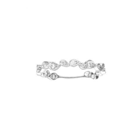 Stone Paris bague alliance en or blanc et diamants collection Whisper