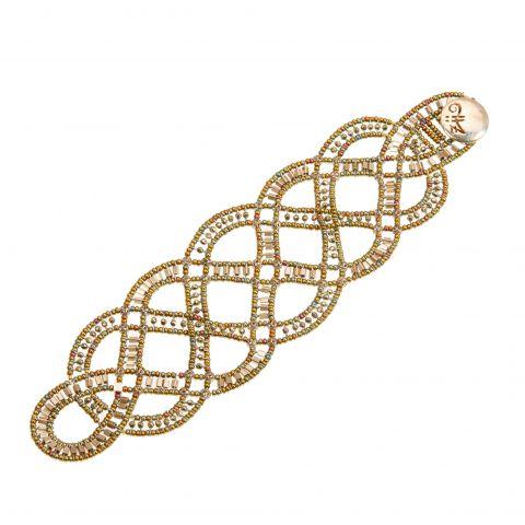 Bracelet tressé en perles de Murano et hématite sur fils d'agrent massif