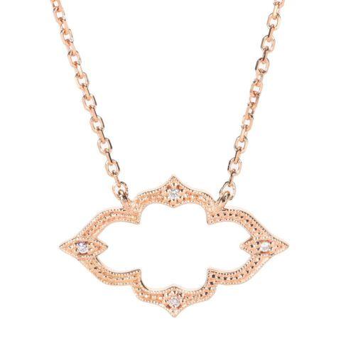 pendentif stone paris moon river or rose diamants