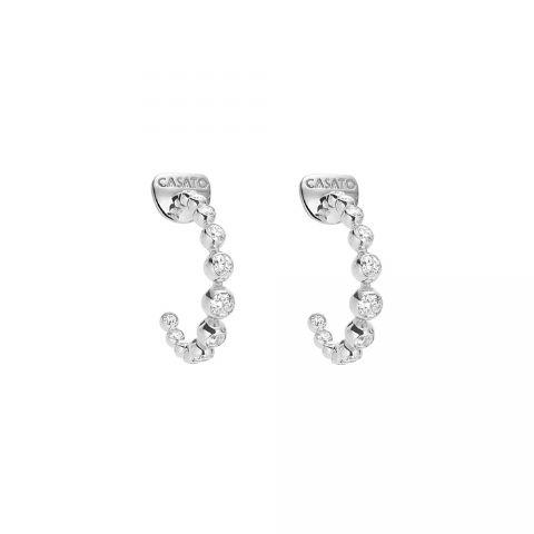 Boucles d'oreilles créoles Casato Boutique en or blanc et diamants