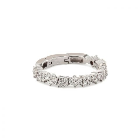 Bague Brusi Brightfall pavé de diamants blancs sur or blanc