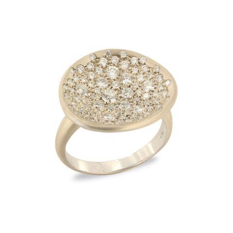 Bague Brusi Spring or blanc pavé de diamants blancs