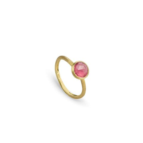 Bague Marco Bicego Jaipur or jaune guilloché et tourmaline rose