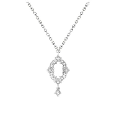 Collier Stone Paris Ava or blanc et diamants