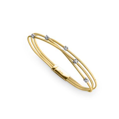 Bracelet Marco Bicego Goa en or jaune et diamants