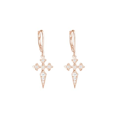 Boucles d'oreilles Blood Diamonds en or rose et diamants