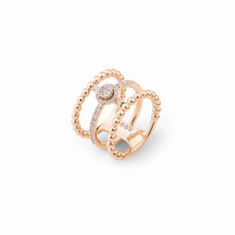 Bague triple Casato Boutique en or rose et diamants