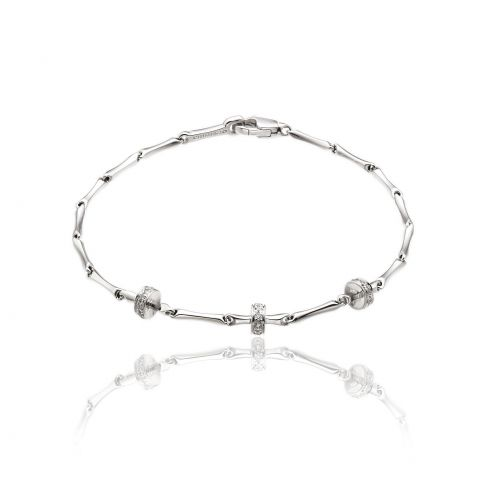 Bracelet Chimento Bamboo Shine or blanc et diamants