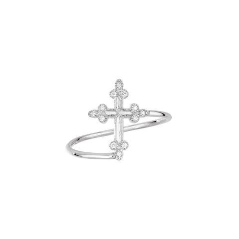 Bague Stone Paris Devotion en or blanc et diamants