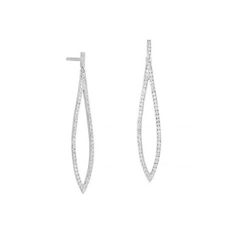 Pendants d'oreilles sertis de diamants