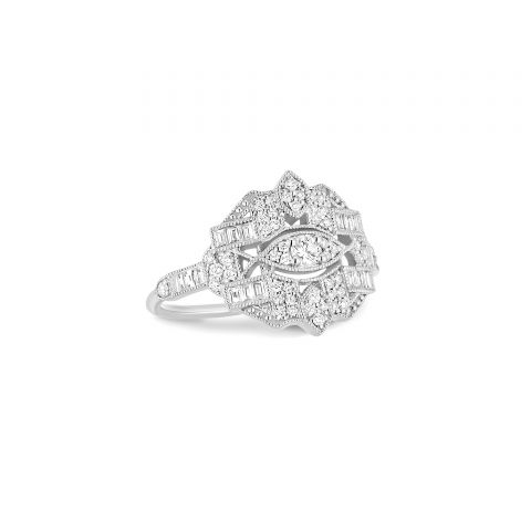 Bague Stone Paris Gilda en or blanc et diamants