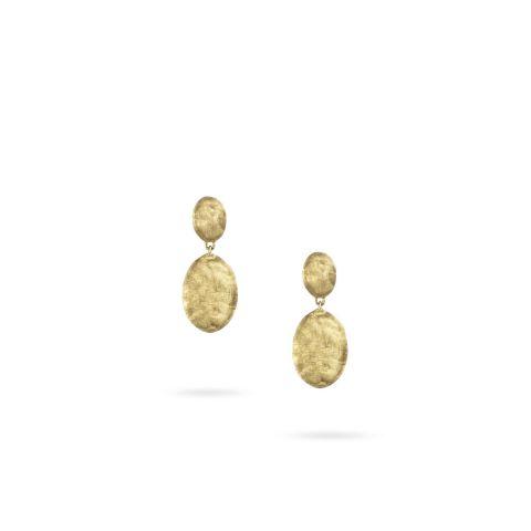 Boucles d'oreilles Marco Bicego Siviglia 2 motifs or jaune guilloché
