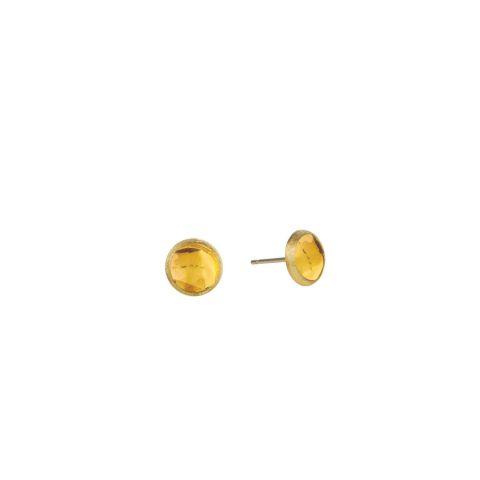 Boucles d'oreilles Marco Bicego Jaipur or jaune guilloché et citrines