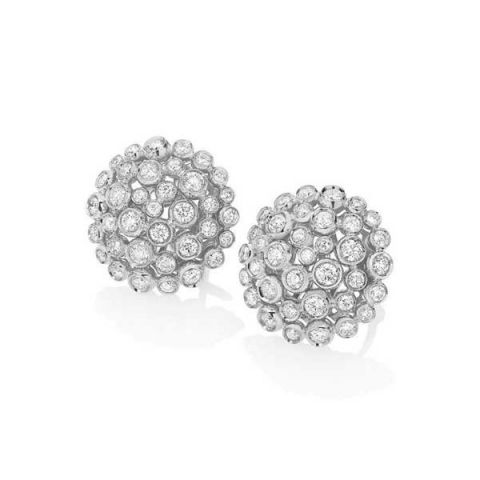 Boucles d'oreilles Casato serties de diamants sur or blanc