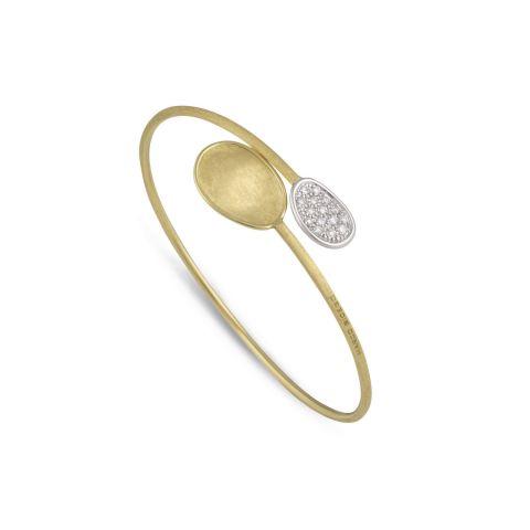 Bracelet rigide Toi & Moi Marco Bicego, collection Lunaria disponible à la bijouterie à Liège