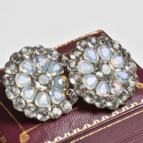 Boutons pierre de lune et cristal de roche de chez Philips Londres