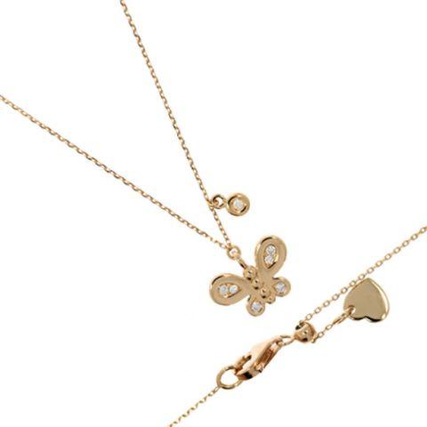 Collier Labor avec pendentif papillon en or et diamants