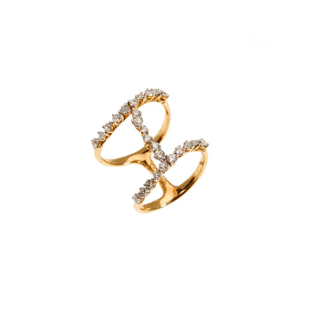 Bague Casato Miss Chi or rose et diamants
