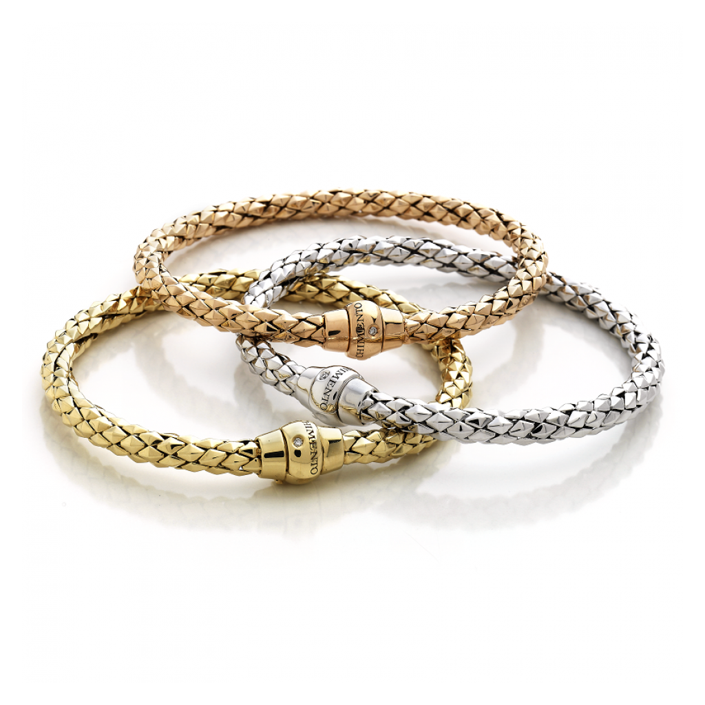 Bracelet Chimento Stretch Classic en or jaune, or blanc, or rose et diamants
