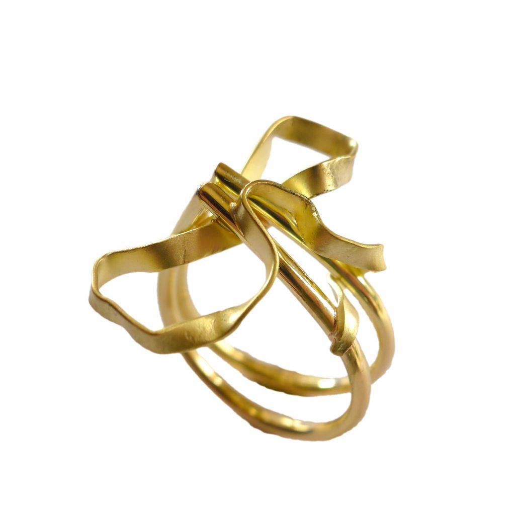 Bague Georges Cuyvers or jaune noeud entrelacé